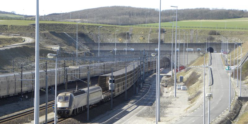 Entrance of the Channel tunnel, Calais, Coquelles