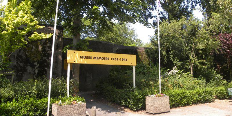 Entrance of Musée Mémoire 1939-1945 in Calais