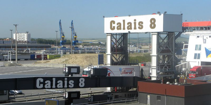 Unloading in the port of Calais