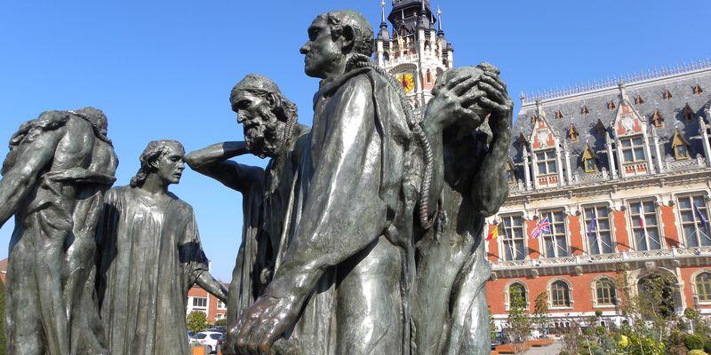 Calais, Statue des Bourgeois de Calais, Auguste Rodin