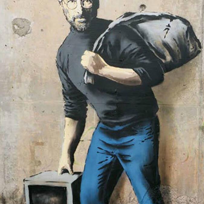 Banksy-Calais-Steve-Jobs